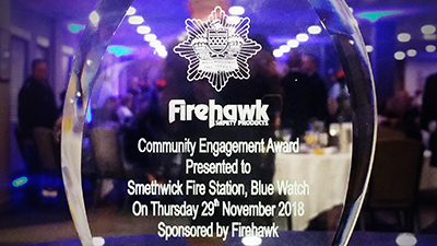 The fire service team and Bhulla were awarded for our community engagement with our Deaf Awareness Week film.